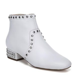 SAM EDELMAN | white embellished ankle boots new